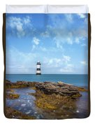Trwyn Du Lighthouse Duvet Cover
