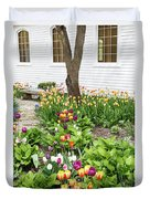 Tulips In The Garden Duvet Cover
