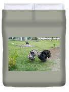 Turkeys In The Yard At Laguna Guerrero Duvet Cover
