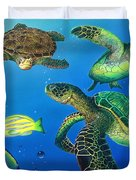 Turtle Towne Duvet Cover