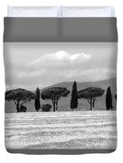 Tuscany Trees Duvet Cover by Julian Perry