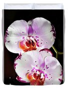 Twin Orchids Duvet Cover
