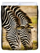 Twins In Stripes Duvet Cover