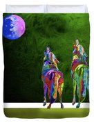 Two Coyote By Nixo Duvet Cover