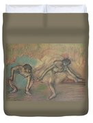 Two Dancers Resting Duvet Cover by Edgar Degas