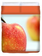 Two Red Gala Apples Duvet Cover