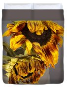 Two Sunflowers Tournesols Duvet Cover