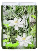 Two Water-lilies Duvet Cover