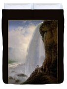 Underneath Niagara Falls Duvet Cover