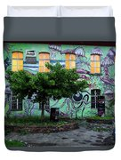 Underwater Graffiti On Studio At Metelkova City Autonomous Cultu Duvet Cover