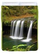 Upper Butte Creek Falls In Autumn Duvet Cover
