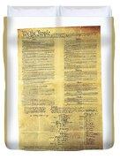U.s Constitution Duvet Cover