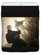 U.s. Navy Seals Give First Aid Duvet Cover