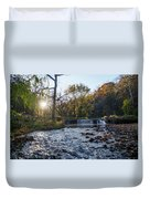 Valley Creek Waterfall - Valley Forge Pa Duvet Cover