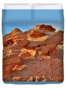 Valley Of Fire Arch At Sunrise Duvet Cover