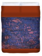 Valley Of Fire Petroglyphs Duvet Cover