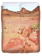 Valley Of Fire's Wash 3 Duvet Cover