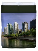 Waterfront Of Vancouver, Canada Duvet Cover