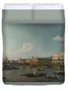 Venice   The Basin Of San Marco On Ascension Day Duvet Cover