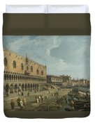 Venice   The Doges Palace And The Riva Degli Schiavoni Duvet Cover