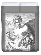 Venus And Cupid Duvet Cover