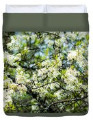 Vermont Apple Blossoms Duvet Cover