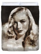 Veronica Lake Vintage Hollywood Actress Duvet Cover