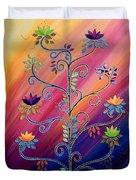 Vibrant Tree Of Life Duvet Cover