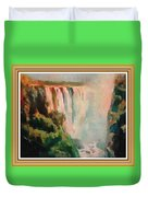 Victoria Waterfalls L B With Alt. Decorative Ornate Printed Frame. Duvet Cover