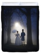 Victorian Couple At Night Duvet Cover