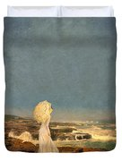 Victorian Lady By The Sea Duvet Cover