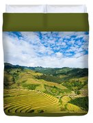 Vietnam Rice Terraces Duvet Cover