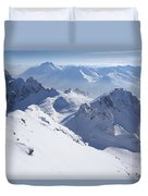 View From Summit Of Valluga, St Saint Anton Am Arlberg Austria Duvet Cover