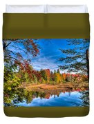 View From The Lock And Dam Trail Duvet Cover