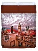 View From The Top In Prague Duvet Cover