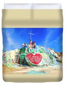 View Of Salvation Mountain Duvet Cover