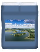 View Of Small Islands On The Lake In Masuria And Podlasie  Duvet Cover