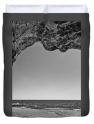 View Of The Natural Tunnel Of Hole In The Wall Beach Duvet Cover