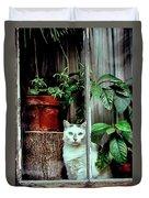 Village Cat Duvet Cover