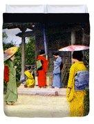 Vintage Japanese Art Duvet Cover