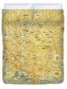 Vintage Map Of Athens Greece - 1894 Duvet Cover