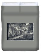 Vintage Photo Effect Medieval Arlington Row In Cotswolds Country Duvet Cover