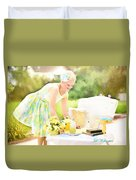 Vintage Val Iced Tea Time Duvet Cover