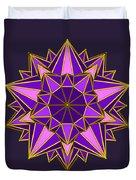 Violet Galactic Star Duvet Cover
