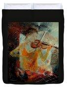 Violinist 67 Duvet Cover