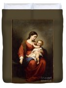 Virgin And Child Duvet Cover