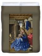Virgin And Child In An Interior Duvet Cover