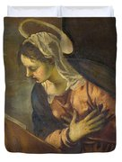 Virgin From The Annunciation To The Virgin Duvet Cover