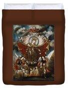 Virgin Of Carmel Saving Souls In Purgatory Duvet Cover