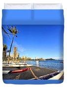 Waikiki Hawaii Duvet Cover